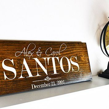 "Personalized Family Gifts, ""PERSONALIZED HOUSEWARMING GIFT"", Personalized New Home Gift, Unique Housewarming, Home Carving signs, Family Name Wood Sign .sign#227"