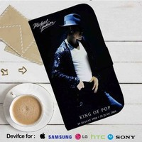 King of Pop Michael Jackson Leather Wallet iPhone 4/4S 5S/C 6/6S Plus 7| Samsung Galaxy S4 S5 S6 S7 NOTE 3 4 5| LG G2 G3 G4| MOTOROLA MOTO X X2 NEXUS 6| SONY Z3 Z4 MINI| HTC ONE X M7 M8 M9 CASE
