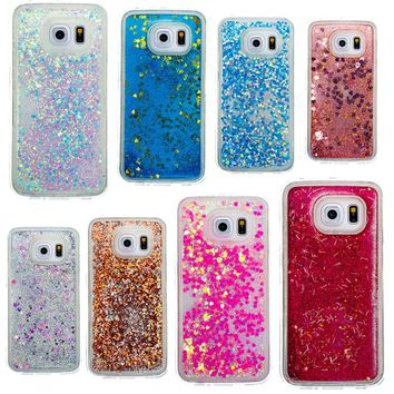 Dynamic Liquid Glitter Sand Quicksand Star Cases For Samsung Galaxy S6 S6 Edge Phone Case Soft TPU Cover Mobile Phone Shell