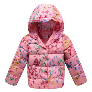 Child Down Coat Middle Long Thick Girl Coat Winter   pink    100cm