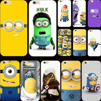 5 5S SE Silicon Cover Strong Despicable Yellow Minion Warm Smile Case For Apple iPhone 5 iPhone 5S iPhone5S/5 Cases Shell Magic