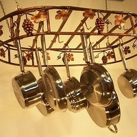 Joannes Grapevine Hanging Oval Cookware Pot Rack