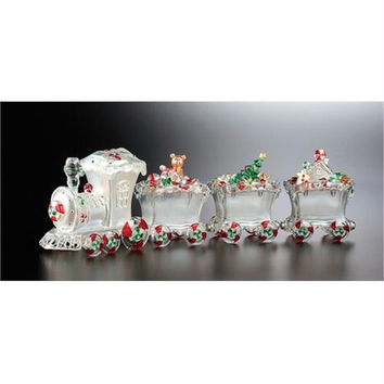 2 Christmas Train Jars - Locomotive And Cargo Card
