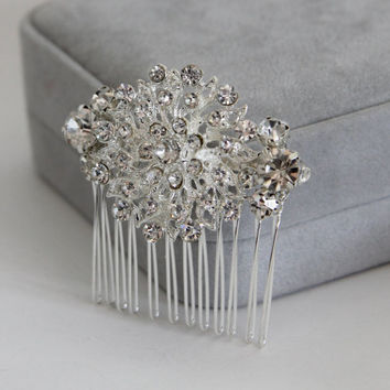 Vintage Style Rhinestone Bridal Hair Comb, Bridesmaid Hair Comb, Wedding Comb, Hair Pin