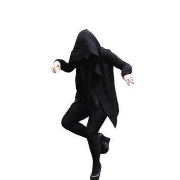 2017 trench coat men darkness with the witch in the long section of the windbreaker male hooded assassin creed sweater cloak
