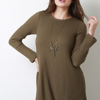 Long Sleeve Rib Effect Thermal Top