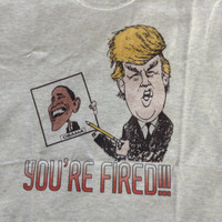 Donald Trump Obama You're Fired T Shirt Size Small Color Light Gray