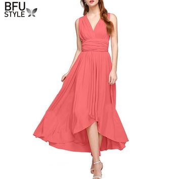 2018 Women Sexy Boho Maxi Club Backless Irregular Dress Red Bandage Long Party Multiway Bridesmaids Convertible Infinity