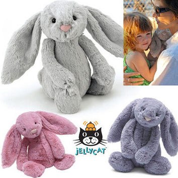 Original Jelly Bunny Rabbit with Tags and CE 45CM Length Cute Lovely Toys Plush Baby Toy Stuffed Animals for Kids Gifts NT128