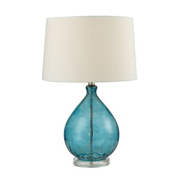 Wayfarer Glass Table Lamp in Teal