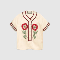 Gucci Embroidered duchesse shirt