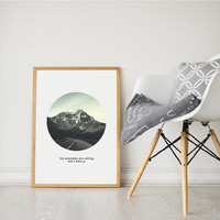 Printable Wall Art Prints, Printable Quotes,Digital Print,Digital Download, Dorm Decor, Dorm Art, Urban Outfitters, Mountains are calling