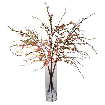 "48"" Cherry Blossom in Vase, Faux, Arrangements"