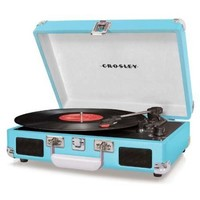 Crosley Cruiser Turntable CR8005A-OR - It's Portable! -  Turquoise Vinyl - Whimsical & Unique Gift Ideas for the Coolest Gift Givers