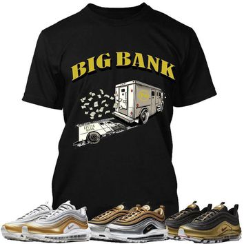 Air Max 97 Gold Sneaker Tees Shirt to Match - BIG BANK PG