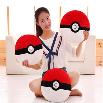 35CM Pokemon Go Quick Ball Pokeball Plush Pillow Stuffed Soft Toy Dolls Kids Christmas Gift