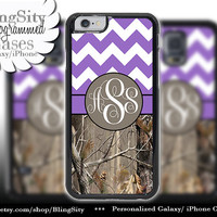 Monogram iPhone 5C 6 6 Plus Case iPhone 5s iPhone 4 case Ipod 4 5 Touch case Tree Camo Purple Fat Chevron Zig Zag  Personalized
