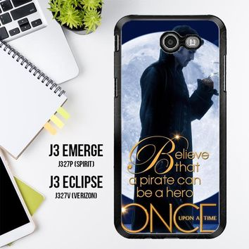 Once Upon A Time Captain Hook Believe F0542 Samsung Galaxy J3 Emerge, J3 Eclipse , Amp Prime 2, Express Prime 2 2017 SM J327 Case