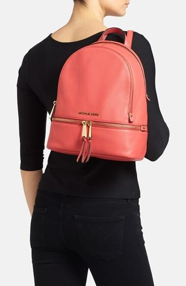 89455d570e61 MICHAEL Michael Kors 'Small Rhea Zip' Leather Backpack