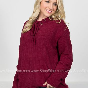 Chenille Cherry Hoody Pullover