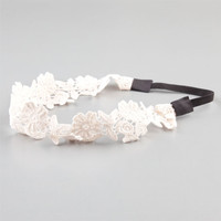 Full Tilt Crochet Headband Ivory One Size For Women 22826016001