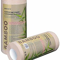TopACE Starplayer Bamboo Fiber, Washable, Reusable, degradable Household Multi-Purpose Paper Towel(7.9'' 11.8''/2 rolls/100 Sheets)'', Gray