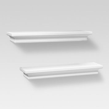 "Set of 2 Traditional Shelves - White (15.75"") - Threshold™"