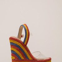 Clear Winner Braided Platform Wedges