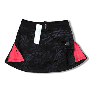Big size badminton culottes sports bust skirt short skirt tennis ball skirt yoga lounge pants skirt plus size solid