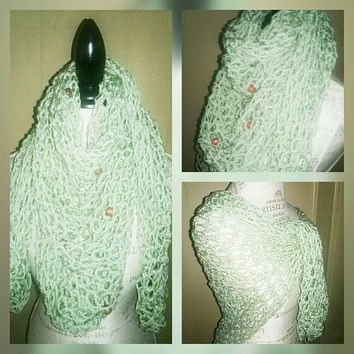 Knetted Wrap Shawl/Scarf