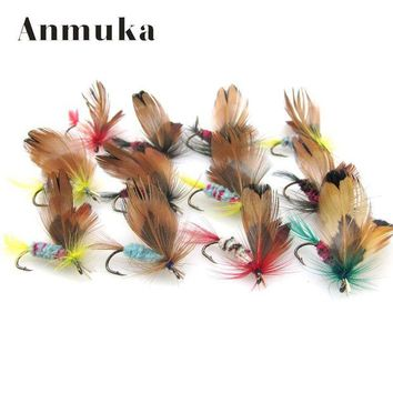 ONETOW Anmuka 12 pcs/set Butterfly Style Dry Fly Hooks Fishing Trout Salmon  Flies Fish  Fly fishing Hooks  Salmon Trout Single Hook
