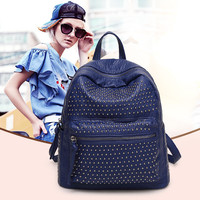 Casual Mini Leather Rivet Backpack [6581911175]