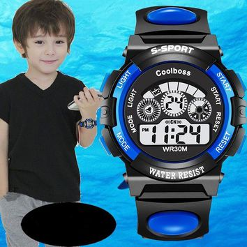 Fashion Children Watch Coolboss Alarm Clock Kids Son LED Electronic Digital Watches Casual Bear Girl Baby For Boy kid Wristwatch