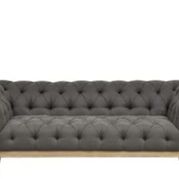 One Kings Lane - Rustic Meets Refined - Finley Sofa, Gray