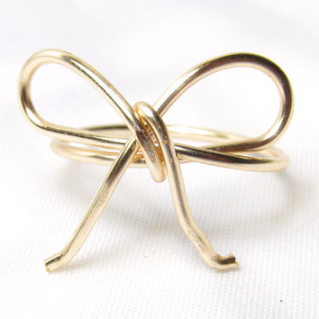 Bow Ring, Gold Fill