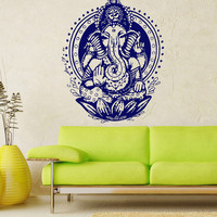 Ganesh Ganesha Elephant Lord of Success Hindu Hand God Buddha India Housewares Wall Vinyl Decal Design Interior Bedroom Decor Sticker SV4151
