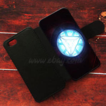 Arc Reactor Wallet iPhone cases Iron man heart Samsung Wallet Leather Phone Case