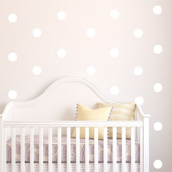 Polka Dot Vinyl Wall Decal Sticker Art. Easy to apply and remove.