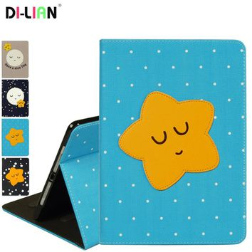 DI-LIAN Smart Case For Apple IPad Air 1 Case Cute cartoon Stand Tablet Case For Ipad Air 2 Cover For Apple IPad 5 ipad 6 Case