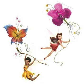 Disney Fairies Tinkerbell Glitter Accent Wall Stickers