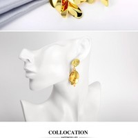 Nickle Free Antiallergic 18K Real Gold Plated Earrings Women New Fashion Jewelry