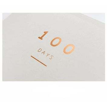 100 Day Countdown Daily Calendar