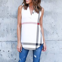 Savannah V-Neck Sleeveless Blouse