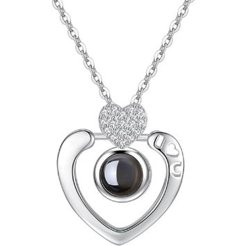"""""""I Love You"""" in 100 Languages Heart Necklace"""