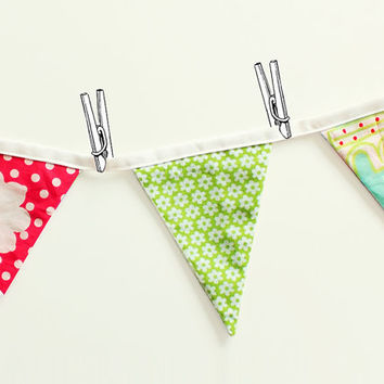 Party bunting banner - EASY sewing pdf tutorial and pattern - pennant banner