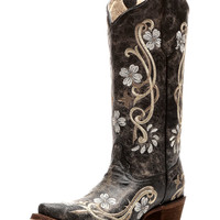Women's Circle G by Corral Cowhide Snip Toe Boot with Embroidery
