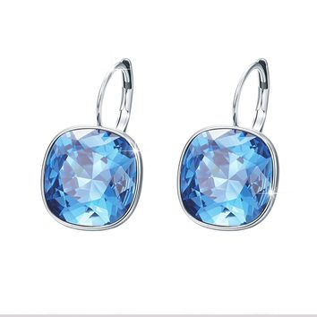 Xuping Valentine's Day Gorgeous Fashion Crystals from Swarovski Huggies Hoop Earrings Women Girl Party Jewelry Mom Gifts