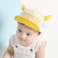 Embroidered Mesh Spliced Devil Corners Cap for Baby