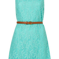 Belted Lace Dress by Rare** - Dresses - Clothing - Topshop