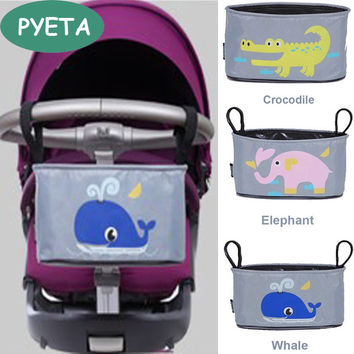 Free Shipping!Baby Stroller Organizer Diaper Bag Mother Bag Travel Nappy Bag Stroller Bags Cartoon For Accessory Storage